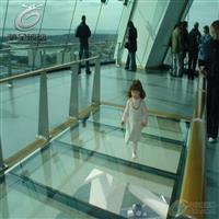 空中景观玻璃 舞台玻璃地板 防滑玻璃地板
