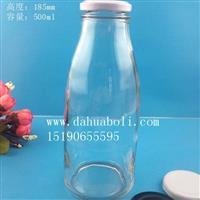 500ml果汁玻璃饮料瓶
