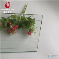 6.8mm高透平形格夹铁丝玻璃