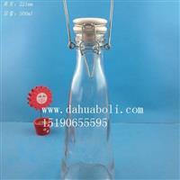 徐州生产500ml手提牛奶玻璃瓶