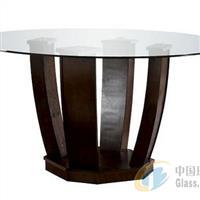 圆形钢化玻璃餐桌