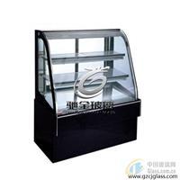 弧形电加热玻璃 除霜除雾冷柜门 推荐广州驰金特种玻璃