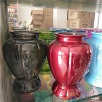 喷涂彩色花瓶大口玻璃瓶