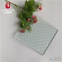 高透明菱形格夹铁丝玻璃