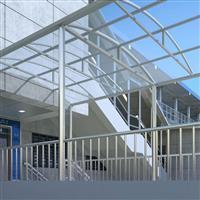 北京销售雨棚阳光棚玻璃弧形彩色都可定制安装