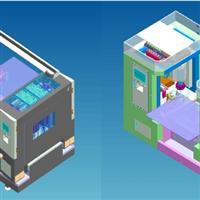 四工位自动玻璃倒角机