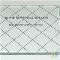 夹丝防爆玻璃 7mm夹钢丝玻璃 商场防盗用