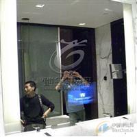 镜面广告机玻璃 镜面玻璃 广告灯箱镜面玻璃