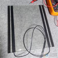 东莞黑色丝印电极加温钢化防雾玻璃生产加工厂家