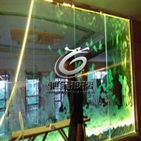 玻璃激光雕刻 玻璃外雕(表面雕刻)工艺内雕发光玻璃