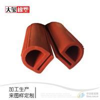 厂家供应e型耐高温硅胶密封条烤箱用硅橡胶条加工定制