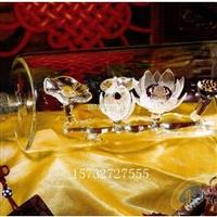 内置莲花造型玻璃酒瓶空心白酒瓶异形酒瓶