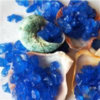大量供应玻璃砂 蓝色玻璃砂 彩色玻璃砂