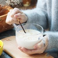 玻璃牛奶早餐杯