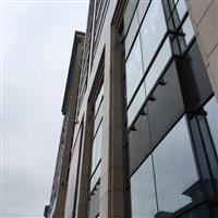 玻璃幕墙固定玻璃施工