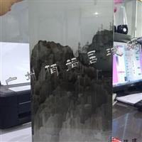 山水 夾絹玻璃