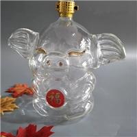 大耳朵小猪猪酒瓶空心玻璃猪猪酒瓶白酒瓶