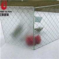 广东广州夹铁丝夹钢丝玻璃 铁丝网玻璃