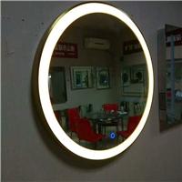 欧式壁挂椭圆形LED灯镜无框浴室镜防雾卫浴镜洗手间