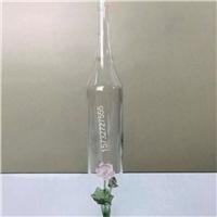 莲花酒瓶荷花白酒瓶吹制工艺酒瓶花造型白酒瓶