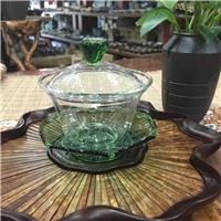 创意玻璃盖碗吹制功夫茶具茶壶玻璃盖碗
