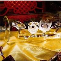 中空莲花酒瓶荷花酒瓶造型白酒瓶吹制玻璃瓶