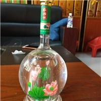 创意荷花酒瓶异形莲花白酒瓶吹制工艺酒瓶