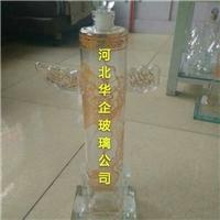 华表玻璃酒瓶空心玻璃酒瓶吹制白酒瓶异形华表瓶子
