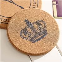 定制皇冠杯垫吸水陶瓷杯垫可印logo 软木餐垫厂家