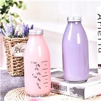 玻璃牛奶瓶饮料瓶铝盖玻璃瓶