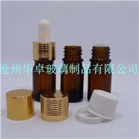 沧州华卓大量现货棕色5ml精油瓶 滴管瓶价格 规格齐全