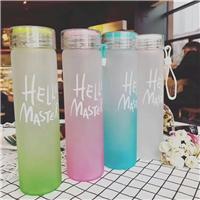 七彩玻璃水杯创意便携式提手杯