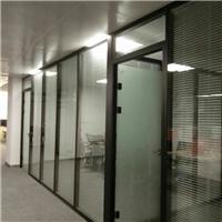 钢化玻璃隔断,钢化办公隔断,钢化百叶隔断