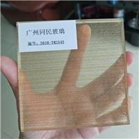 广州供应钢化夹丝玻璃 装饰隔断夹绢玻璃