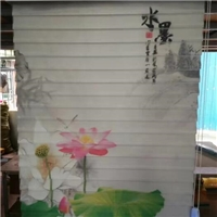 卷轴式窗帘3D图案浮雕立体彩印机