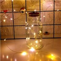 新款星空瓶玻璃瓶圣诞装饰瓶发光瓶
