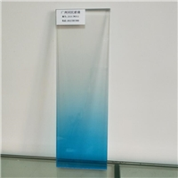 蓝色渐变玻璃 磨砂渐变玻璃 淋浴房渐变玻璃