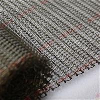 定制不锈钢手工编织玻璃双旋输送带网