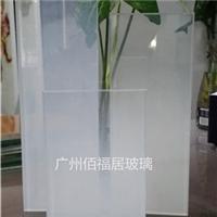 突变磨砂白夹胶玻璃