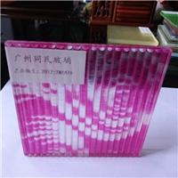 供应坑纹特色玻璃 条纹夹丝玻璃 装饰玻璃