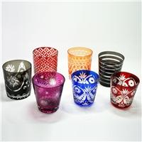 日式切子江户切子玻璃人工手工雕刻清酒杯烈酒杯