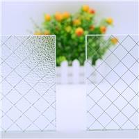 广东广州防盗防砸门窗夹铁丝玻璃 铁丝网玻璃