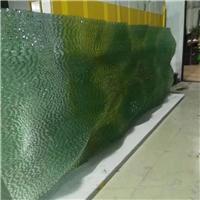 上海热熔玻璃钳口玻璃叠纹玻璃玻璃水纹玻璃