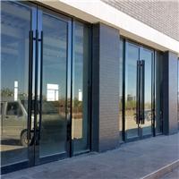 天津黑钛金玻璃门 感应玻璃门 玻璃隔断安装