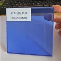 广州同民蓝色透明夹胶玻璃 透明夹层玻璃