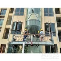 高空电梯玻璃拆除更换