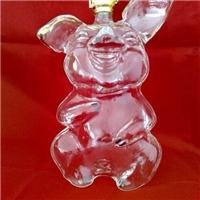生肖猪小猪玻璃酒瓶吹制白酒瓶异形酒瓶