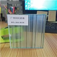 夹丝玻璃 双面工艺线条夹丝玻璃