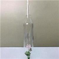 荷花造型玻璃冰酒瓶莲花葡萄酒瓶威士忌酒瓶