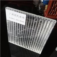 特色条纹夹丝玻璃 竖纹玻璃夹丝玻璃